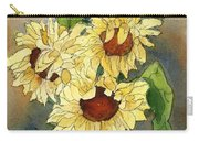 Portrait Of Sunflowers Carry-all Pouch