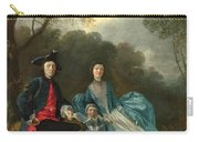 Portrait Of The Artist With His Wife And Daughter Carry-all Pouch