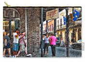 Portrait Of The Street Musician Sketch  Carry-all Pouch