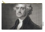 Portrait Of Thomas Jefferson Carry-all Pouch by Henry Bryan Hall