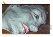 Portrait Sculpture Carry-all Pouch by Joan-Violet Stretch