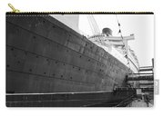 Portside Bw Queen Mary Ocean Liner Long Beach Ca Carry-all Pouch