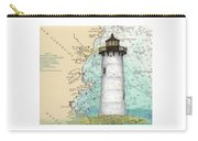 Portsmouth Harbor Lighthouse Nh Nautical Chart Map Art Carry-all Pouch