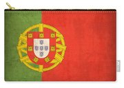 Portugal Flag Vintage Distressed Finish Carry-all Pouch