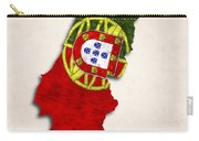 Portugal Map Art With Flag Design Carry-all Pouch