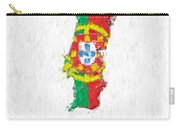 Portugal Painted Flag Map Carry-all Pouch