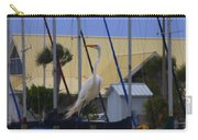 Posing Egret Carry-all Pouch
