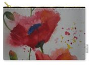 Positively Poppies Carry-all Pouch