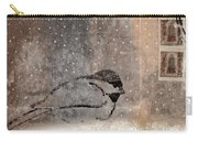 Postcard Chickadee In The Snow Carry-all Pouch