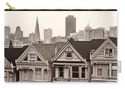 Postcard Row Bw Carry-all Pouch