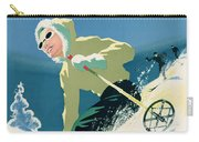 Poster Advertising Skiing Holidays In The Province Of Quebec Carry-all Pouch