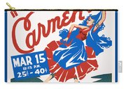 Poster For Production Of Carmen Carry-all Pouch