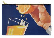 Poster With A Glass Of Orange Juice Carry-all Pouch