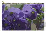 Posterised Flowers Carry-all Pouch