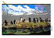 Posterized Penguins Line Dance Carry-all Pouch