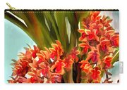 Pot Of Rust Orange Orchids Carry-all Pouch