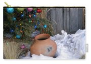 Pottery In Snow At Xmas Carry-all Pouch