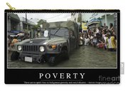 Poverty Inspirational Quote Carry-all Pouch