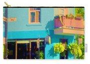 Powder Blue Corner Cafe Elses Pub Rue Roy  Montreal Sunny Summer Cafe Scene Carole Spandau Carry-all Pouch