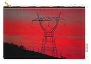 Power Lines Just After Sunset Carry-all Pouch