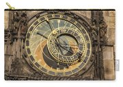 Prague Astronomical Clock Carry-all Pouch by Joan Carroll