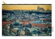 Prague Castle Sunset Carry-all Pouch by Joan Carroll