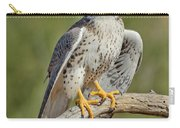 Praire Falcon On Dead Branch Carry-all Pouch