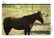 Prarie Stallion In The Shade Carry-all Pouch by Barbara Griffin
