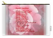 Prayer Of St. Francis And Pink Rose 2 Carry-all Pouch