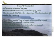 Prayer Of St Francis Of Assisi Carry-all Pouch by Sharon Elliott
