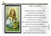 Prayer To St. Dymphna Carry-all Pouch
