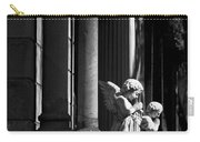 Praying Angle - Sucre Cemetery In Black And White Carry-all Pouch