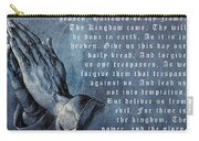 Praying Hands Lords Prayer Carry-all Pouch by Albrecht Durer