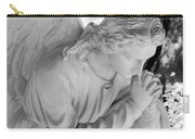 Praying Male Angel Near Infrared Black And White Carry-all Pouch