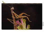 Praying Mantis Atop Zinnia Carry-all Pouch