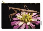 Praying Mantis On Zinnia Carry-all Pouch
