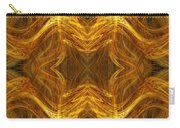 Precious Metal 3 Ocean Waves Dark Gold Carry-all Pouch by Andee Design