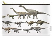 Prehistoric Era Dinosaurs Of Niger Carry-all Pouch by Nobumichi Tamura