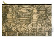 Presentation Drawing Of The Automotive Panel For The North Wall Of The Detroit Industry Mural Carry-all Pouch
