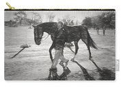 Presentation In Charcoal Carry-all Pouch