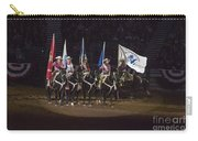 Presenting The Colors On Horseback Carry-all Pouch