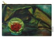 Preserved Rose . . Draped Canvas Carry-all Pouch