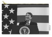President Reagan American Flag  Carry-all Pouch