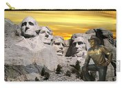 President Reagan At Mount Rushmore Carry-all Pouch