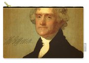 President Thomas Jefferson Portrait And Signature Carry-all Pouch