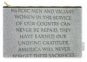 President Truman's Dedication To World War Two Vets Carry-all Pouch