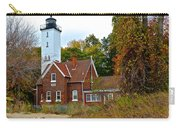 Presque Isle Lighthouse Carry-all Pouch by Frozen in Time Fine Art Photography