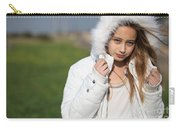 Preteen In White Coat  Carry-all Pouch