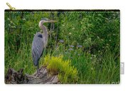 Pretty Heron Perch Carry-all Pouch