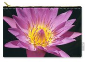 Pretty In Pink And Yellow Water Lily Carry-all Pouch
